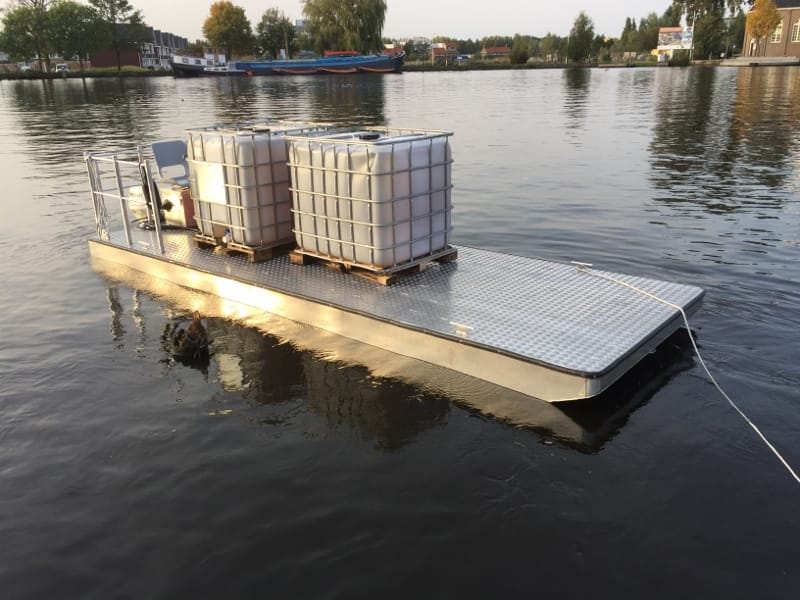 Rent work Pontoon AluminiumJON 6m