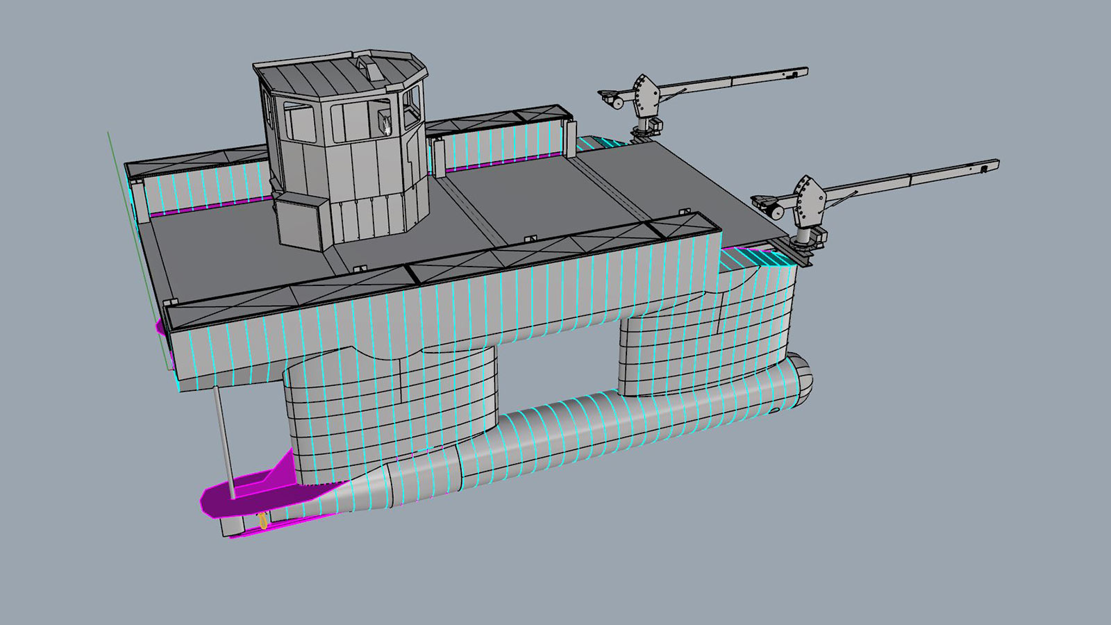 AluminiumJon - GolfVessel - SlowMill - Supportboot