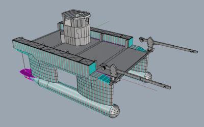Aluminiumjon bouwt supportboot voor SlowMill
