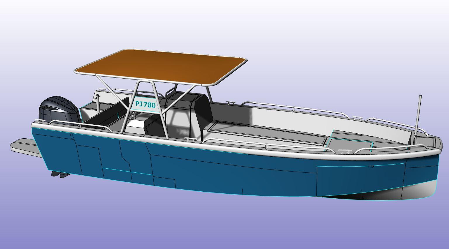 AluminiumJon.nl - PJ780 - Geschikt voor grotere golven