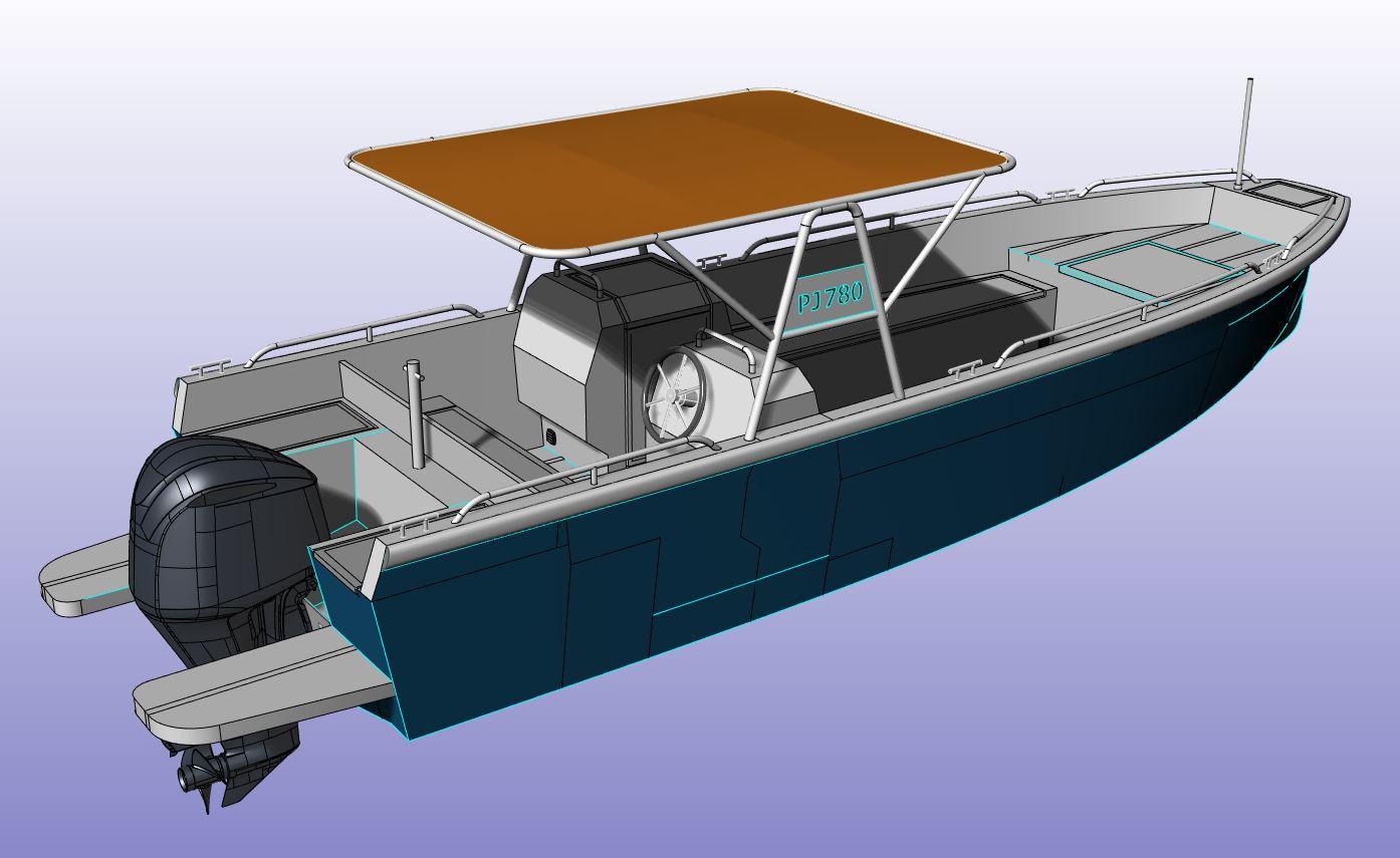 AluminiumJon - PJ780 - Perfect voor op de grotere golven
