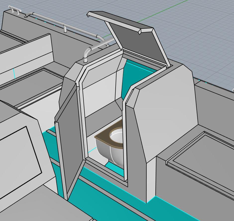 AluminiumJon - PJ780 - De toiletinstap is keurig verwerkt in de boot